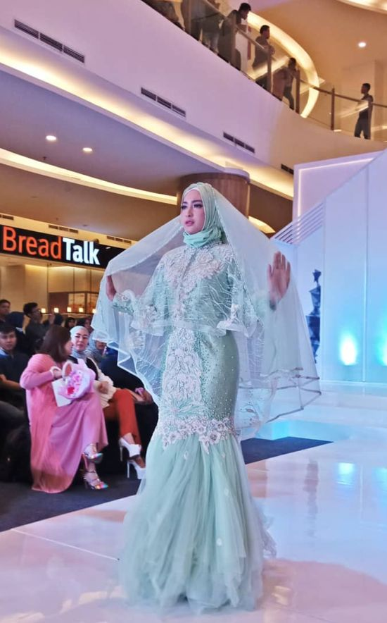 Islamic Mermaid Green Wedding Dress