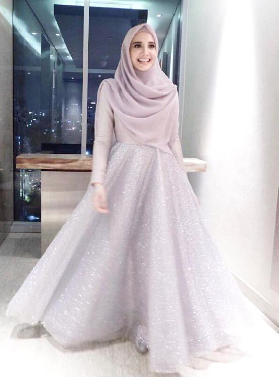 Simple Islamic Ball Gown Wedding Dress