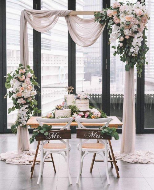 Simple Wedding Decoration With Unique Chairs