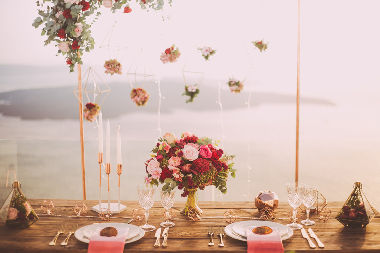 Simple Wedding Decoration Idea With Hanging Flowers