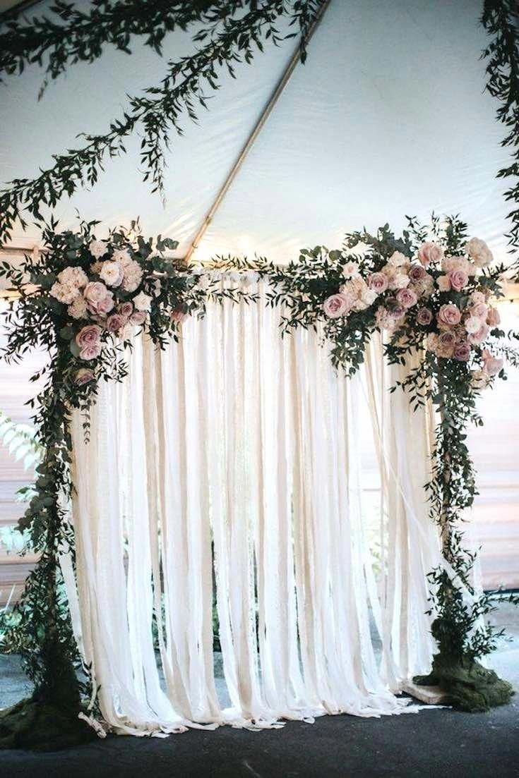 Simple Wedding Decoration Idea With White Flowers